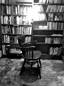 Chair in the last bookshop