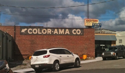 Color-ama on side of building