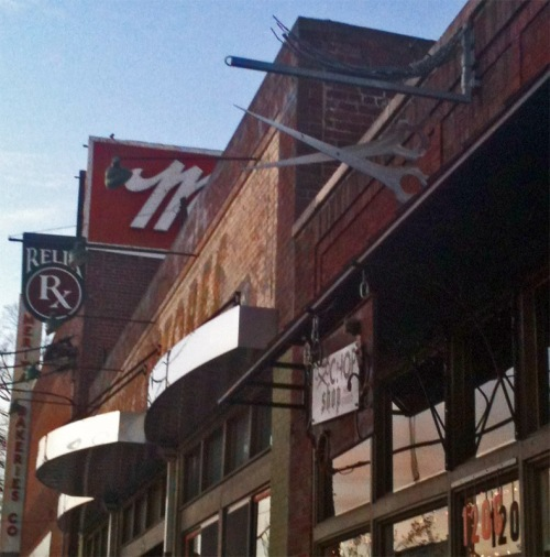 Chop Shop and Relix signs