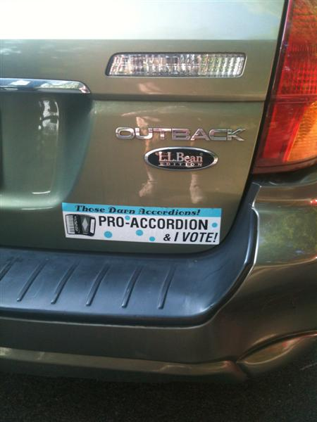 Pro-Accordion sticker