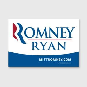 Romney Ryan sign