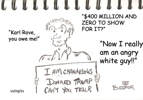 Cartoon of Angry White Guy