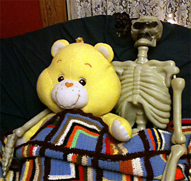 Bear and Skeleton talk about their relationship.