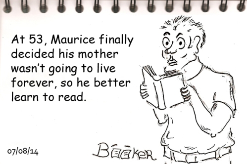 Maurice struggled to get a grip on his reading.