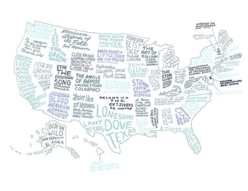 A literary map of the U.S.
