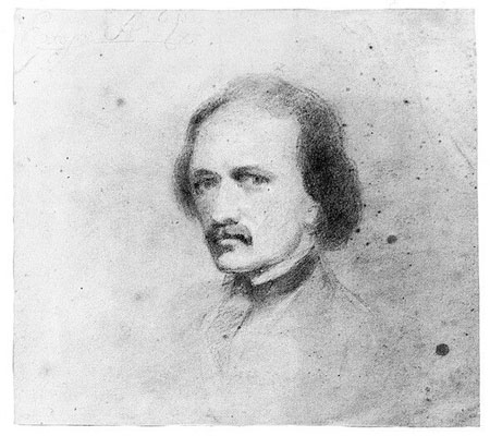Edgar Allan Poe -- self-portrait