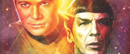 Kirk (left) and Spock (right) of Star Trek.