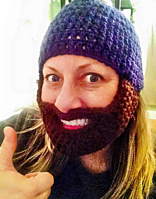 The knitted beard.