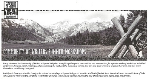 Poetry and Writing Workshops in June and July 2015.