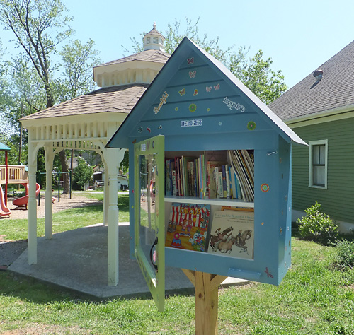 Local Little Library box.