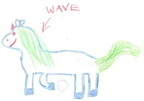 Wave the horse.