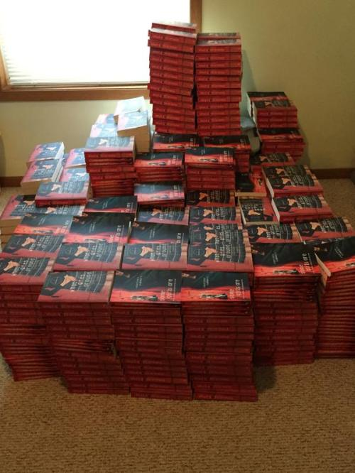 Copies of the banned book.