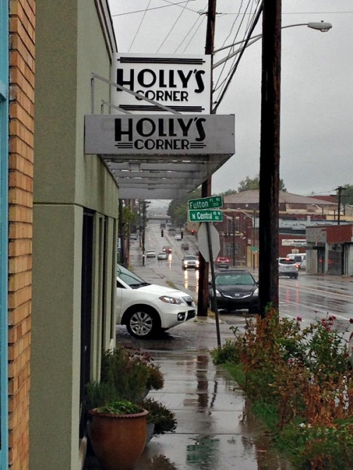It was a cool, rainy day down at Holly's Corner.