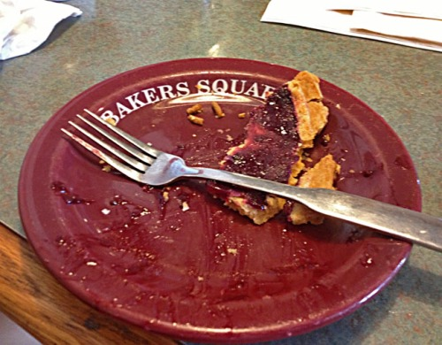 Nothing quite says Happy Holidays quite like crust crumbs from your favorite left on a plate. Wonder which kind of pie Santa likes.