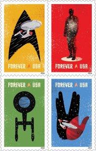 Star Trek US postage stamps for 2016