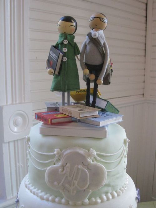 Reason number 12. Books can be a part of your wedding cake topper.
