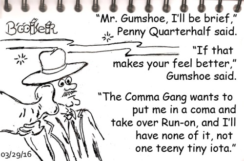 The lawyer told Gumshoe to pick up the E-trunk line: elephant trunk line.