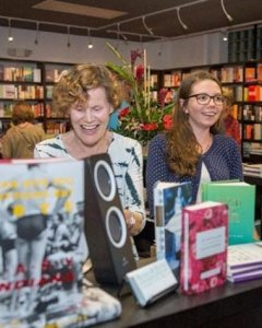 Judy Blume (left), author turned bookseller.