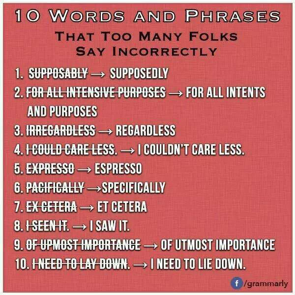 ten words and phrases booker s