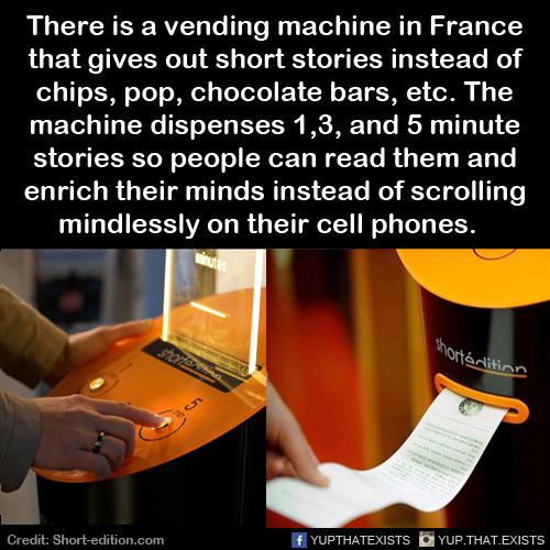 machine dispensing stories