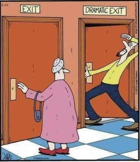 Staged exit