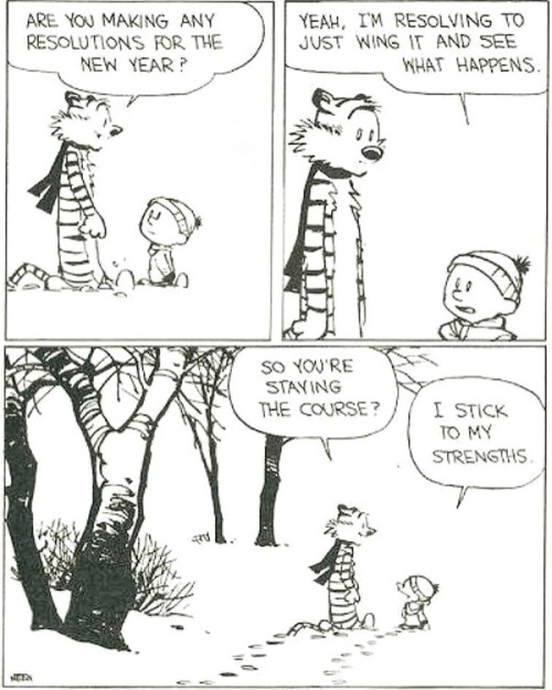 Calvin and Hobbs: New Year's resolutions