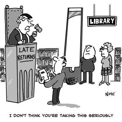 Man facing hefty fine for overdue books